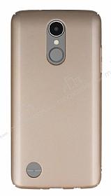 LG K8 2017 Tam Kenar Koruma Gold Rubber Kılıf
