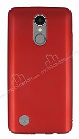 LG K8 2017 Tam Kenar Koruma Kırmızı Rubber Kılıf
