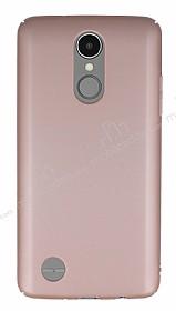 LG K8 2017 Tam Kenar Koruma Rose Gold Rubber Kılıf