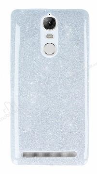 Lenovo Vibe K5 Note Simli Silver Silikon Kılıf