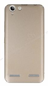 Lenovo Vibe K5 Tam Kenar Koruma Gold Rubber Kılıf