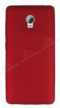 Lenovo Vibe P1 Mat Kırmızı Silikon Kılıf