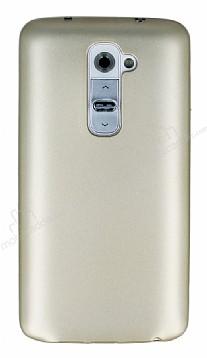 LG G2 Mat Gold Silikon Kılıf