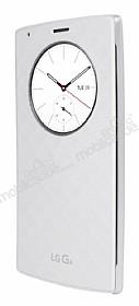 LG G4 Orjinal Uyku Modlu Pencereli Beyaz Deri Kılıf