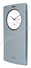 LG G4 Orjinal Uyku Modlu Pencereli Mavi Deri Kılıf