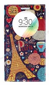 LG G4 Stylus Gizli Mıknatıslı Pencereli Paris Deri Kılıf