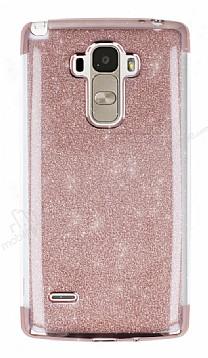 LG G4 Stylus Simli Rose Gold Silikon Kılıf