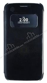 LG G5 Pencereli Kapaklı Siyah Kılıf