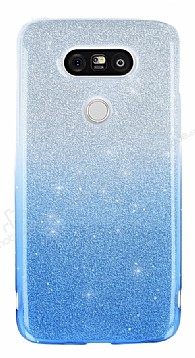 LG G5 Simli Mavi Silikon Kılıf