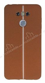 LG G6 Kadife Dokulu Kahverengi Silikon Kılıf