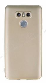 LG G6 Mat Gold Silikon Kılıf