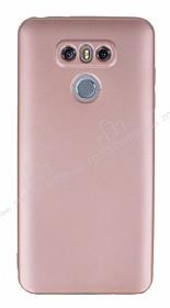 LG G6 Mat Rose Gold Silikon Kılıf
