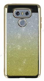 LG G6 Simli Parlak Gold Silikon Kılıf
