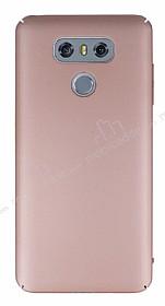 LG G6 Tam Kenar Koruma Rose Gold Rubber Kılıf