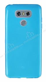LG G6 Ultra İnce Şeffaf Mavi Silikon Kılıf