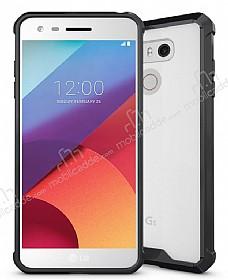 Dafoni Fit Hybrid LG G6 Ultra Koruma Siyah Silikon Kenarlı Şeffaf Kılıf