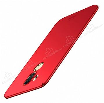 LG G7 ThinQ Mat Mürdüm Kırmızı Silikon Kılıf