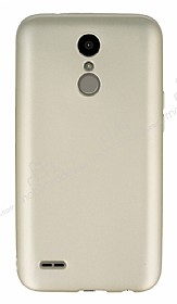 LG K10 2017 Mat Gold Silikon Kılıf