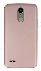 LG K10 2017 Tam Kenar Koruma Rose Gold Rubber Kılıf