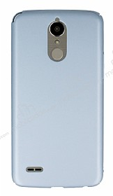 LG K10 2017 Tam Kenar Koruma Silver Rubber Kılıf
