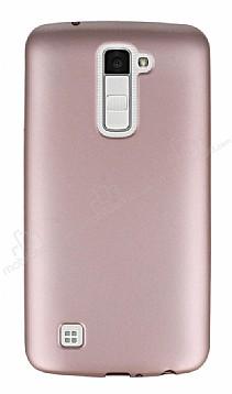 LG K10 Mat Rose Gold Silikon Kılıf