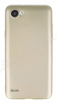 LG Q6 Mat Gold Silikon Kılıf