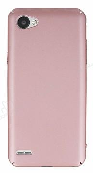 LG Q6 Tam Kenar Koruma Rose Gold Rubber Kılıf