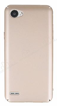 LG Q6 Tam Kenar Koruma Gold Rubber Kılıf