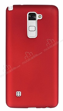 LG Stylus 2 / Stylus 2 Plus Mat Kırmızı Silikon Kılıf