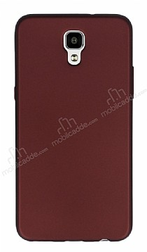 LG X Screen Mat Bordo Silikon Kılıf