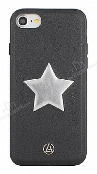 Luna Aristo Astro Serisi İphone iPhone 7 / 8 Gerçek Deri Siyah Kılıf