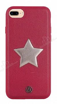 Luna Aristo Astro Serisi iPhone 7 Plus / 8 Plus Bordo Gerçek Deri Kılıf