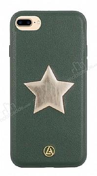 Luna Aristo Astro Serisi İphone iPhone 7 Plus / 8 Plus Yeşil Gerçek Deri Kılıf