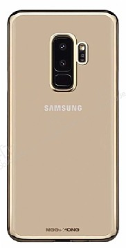 MeePhone Samsung Galaxy S9 Gold Kenarlı Şeffaf Rubber Kılıf