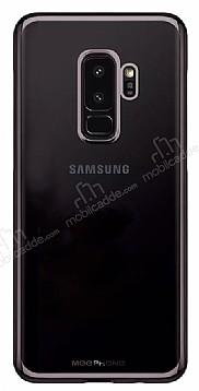 MeePhone Samsung Galaxy S9 Plus Siyah Kenarlı Şeffaf Rubber Kılıf