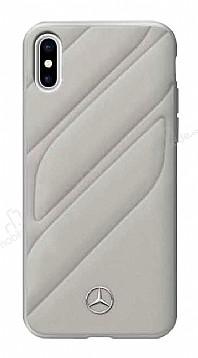 Mercedes-Benz iPhone X Gerçek Deri Bej Rubber Kılıf