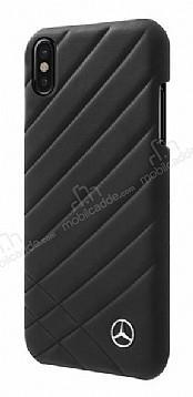 Mercedes-Benz iPhone X Gerçek Deri Siyah Rubber Kılıf
