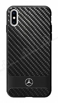 Mercedes-Benz iPhone X Karbon Siyah Rubber Kılıf