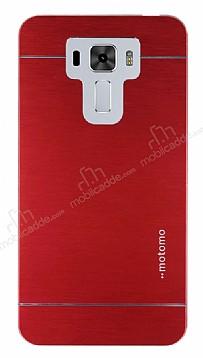 Motomo Asus Zenfone 3 Laser ZC551KL Metal Kırmızı Rubber Kılıf