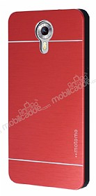 Motomo General Mobile Android One / General Mobile GM 5 Metal Kırmızı Rubber Kılıf