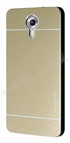 Motomo General Mobile Android One / General Mobile GM 5 Metal Gold Rubber Kılıf