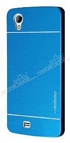 Motomo General Mobile Discovery 2 Mini Metal Mavi Rubber Kılıf