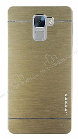Motomo Huawei Honor 7 Metal Gold Rubber Kılıf