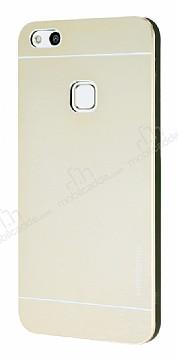 Motomo Huawei P10 Lite Metal Gold Rubber Kılıf