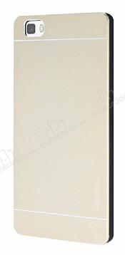 Motomo Huawei P8 Lite Metal Gold Rubber Kılıf