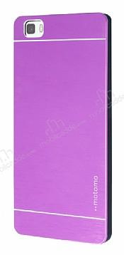 Motomo Huawei P8 Lite Metal Mor Rubber Kılıf