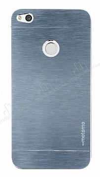 Motomo Huawei P9 Lite 2017 Metal Silver Rubber Kılıf