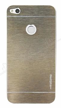 Motomo Huawei P9 Lite 2017 Metal Gold Rubber Kılıf