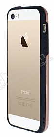 Motomo Hybrid iPhone SE / 5 / 5S Kristal Rose Gold Kılıf