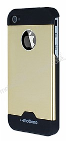 Motomo Round iPhone 4 / 4S Metal Gold Rubber K�l�f